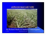 Australian Sugar Cane Farms.pdf - The Jamaican Sugar Industry