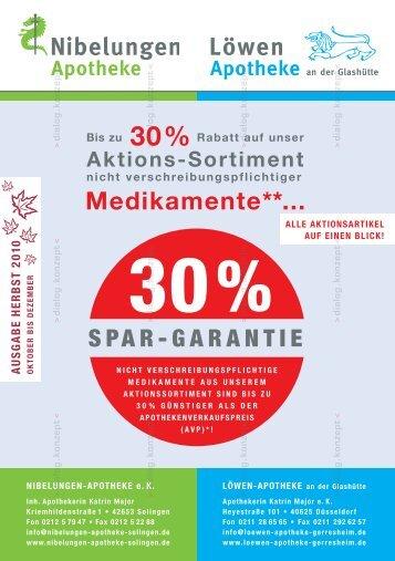 10% - Nibelungen Apotheke - Solingen