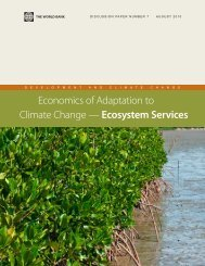 Economics of Adaptation to Climate Change — Ecosystem Services