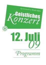 Programm - Bernhard Schmidt