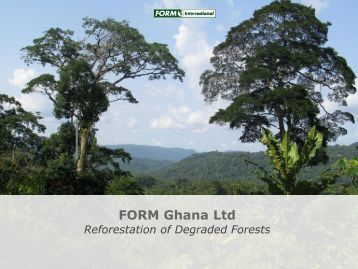 FORM International: Experiences from Ghana - NFP Facility