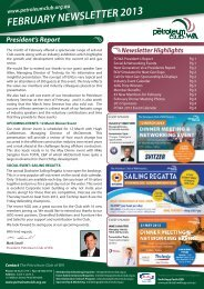 2013 February eNewsletter - Petroleum Club Of WA