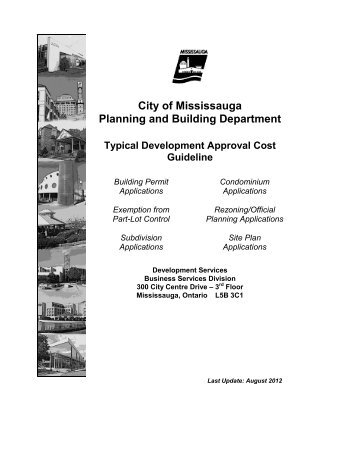 City Of Mississauga Planning And Building Department