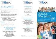 Info- Folder - International Business College Hetzendorf