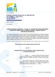 www.asl3.liguria.it Comitato Consultivo Zonale Art. 24 ACN 29.07.09