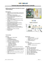 Door control unit XMP-K32