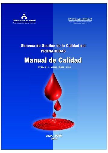 Manual de Calidad - Bvs.minsa.gob.pe - Ministerio de Salud