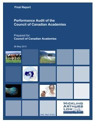 Performance Audit of the Council of Canadian Academies