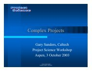 Complex Projects - Project Science