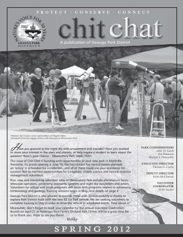 Chit Chat Spring 2012 - Geauga Park District