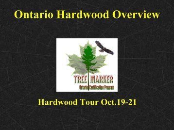 Ontario Hardwood Overview - Hardwood Research Initiative