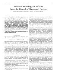 IEEE TRANSACTIONS ON AUTOMATIC CONTROL, VOL. X, NO. Y ...