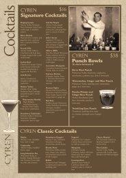 Classic Cocktails - Nicks