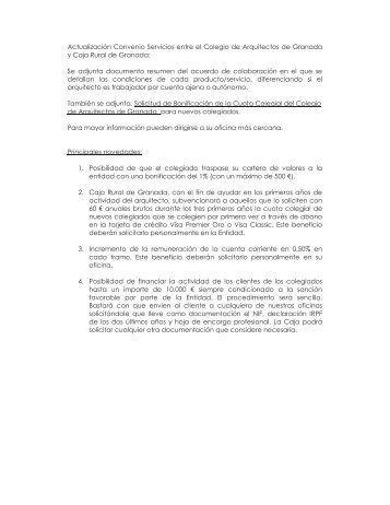 4 actualidad texto grana - Colegio arquitectos granada ...