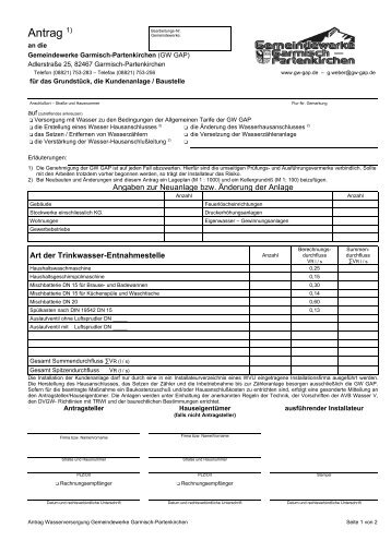 Antrag 1) - Gemeindewerke Garmisch-Partenkirchen