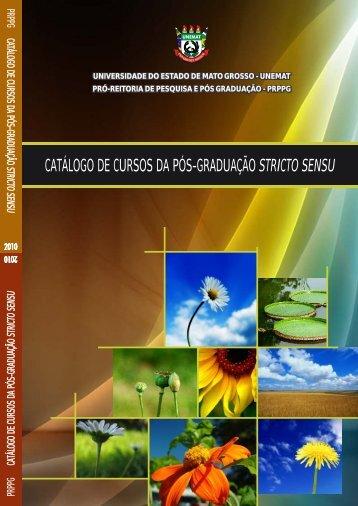 Catálogo de Cursos da Pós-Graduação Stricto Sensu - Unemat