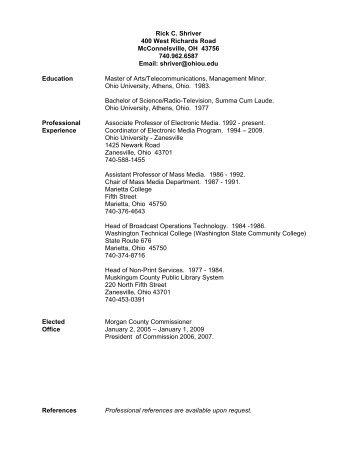 Rick Shriver's Resume - Rickshriver.net