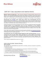 CeBIT 2011: Fujitsu zeigt weltweit ersten kabellosen ... - Fujitsu-Blog