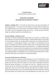 Glanzlichter für Grillprofis: Der perfekte Geschenk-Moment mit Weber®