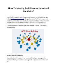 How To Identify And Disavow Unnatural Backlinks?