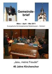 Gemeinde- brief - Weindorf Niederhausen an der Nahe