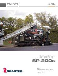 The SP-200e Spray Paver - Roadtec, Inc.