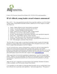 IFAJ-Alltech young leader award winners announced - International ...