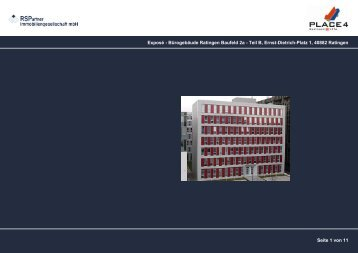 Exposé - Bürogebäude Ratingen Baufeld 2a - Teil B, Ernst ... - Place4