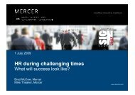 HR during challenging times What will success look like - Mercer ...