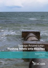 Sewage Related Litter: Flushing Toilets onto ... - Keep Britain Tidy