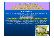 thin film layers and multilayer nanostructures for photovoltaic - CINaM