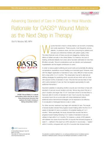 Advancing Standard of Care in Difficult-to-Heal Wounds