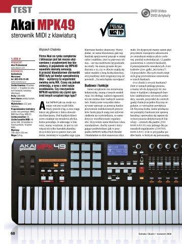 Akai mpk49 Estrada i Studio kwiecień 2008 - Audiostacja
