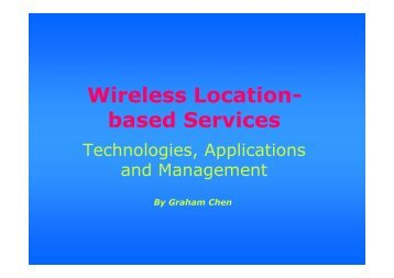 Wireless Location- based Services - APNOMS