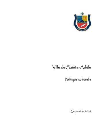 Ville de Sainte-Adèle - Ministère de la Culture et des Communications