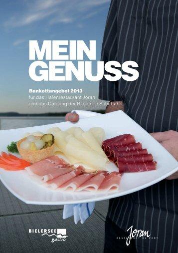 Banquet offer (german) - BSG - Bielersee Schifffahrt