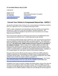 Convert Your Vehicle to Compressed Natural Gas - SAFELY