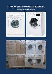 WASCHMASCHINEN / WASHING MACHINES - Euro-stocks.net