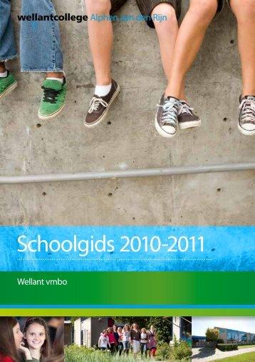 Schoolgids 2010-2011 - Wellantcollege