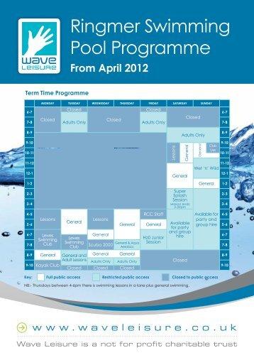 Wymondham Leisure Centre Term Time Timetable 2013 Pdf