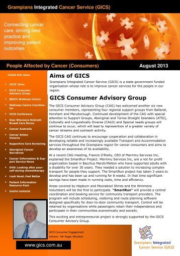 August 2013 Consumer Newsletter (Read-Only) - Grampians ...