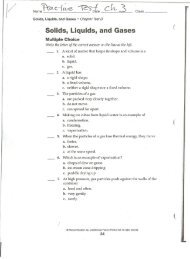 Solids, Liquids, and Gases - Teacher