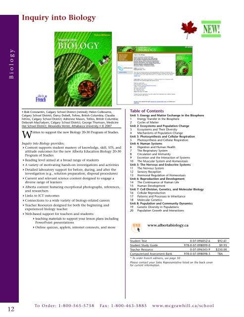 Inquiry into Biology Biol