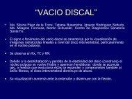 """""""VACIO DISCAL"""" VACIO DISCAL - Congreso SORDIC"""