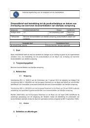 Omzendbrief met betrekking tot de productiedatum en datum ... - FAVV