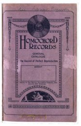 Homochord 1926 - British Library - Sounds