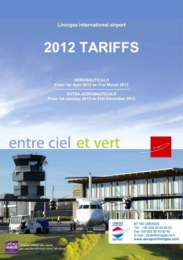 2012 TARIFFS - Aéroport International de Limoges