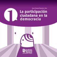 la participacion ciudadana en la democracia - Instituto Electoral y de ...