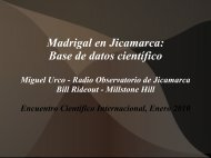 Madrigal en Jicamarca: Base de datos científico