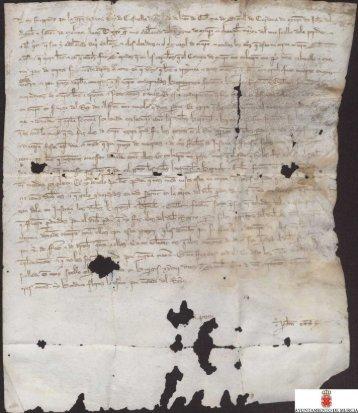 Carta abierta de Fernando IV a don Diego García, adelantado del ...
